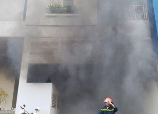 Vụ cháy tại chung cư Carina.